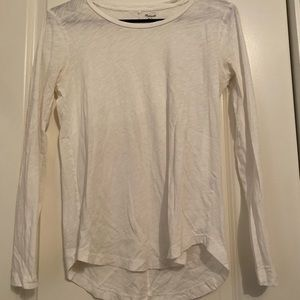 White Madewell long sleeve! Size S!